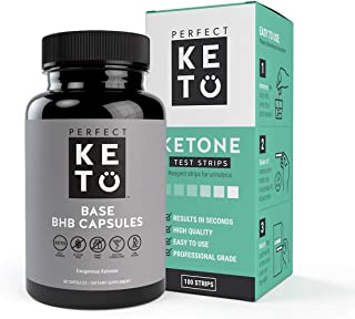 Perfect Keto Exogenous Ketones: Base BHB Salts Supplement for Ketogenic Diet Best to Support Weight Management & Energy, F...