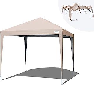Quictent ワンタッチ タープテント 3m 3段階調節 UVカット 耐水 スチール キャンプ アウトドア 耐水 テント キャンプ用品 ワンタッチテント タープ収納ケース