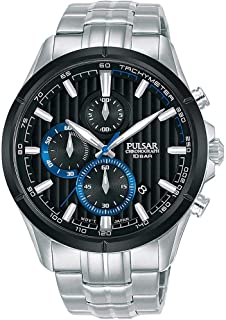Pulsar Active Mens Analog Quartz Watch with Stainless Steel Bracelet PM3161X1