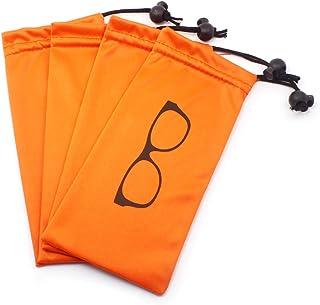 Almacenamiento suave Bolsa Microfibra con cordón Cerradura para gafas, cosméticos, teléfonos celulares, tarjetas, bolígraf...