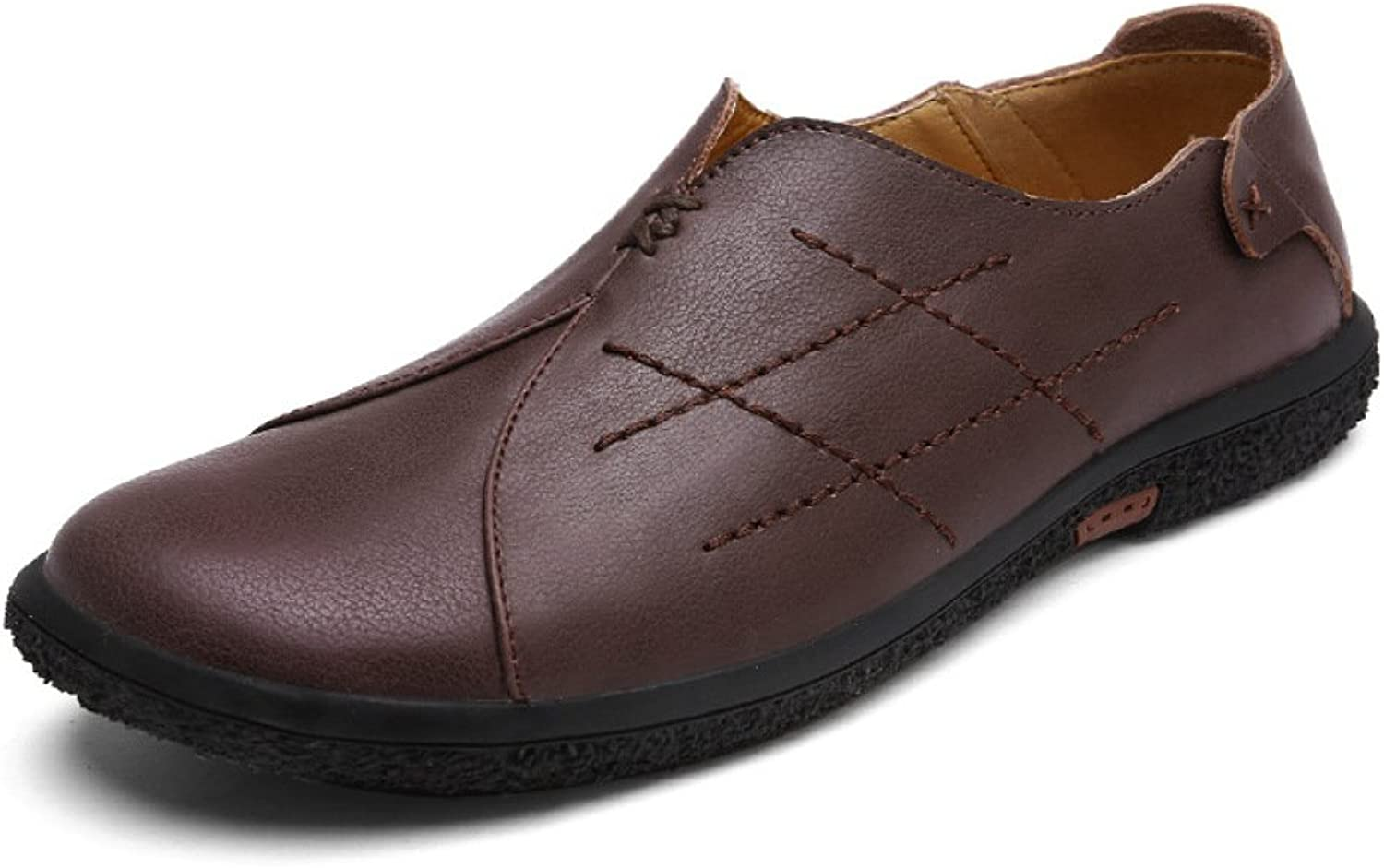 GTYMFH Autumn Genuine Leather Casual shoes Men's shoes Leather shoes