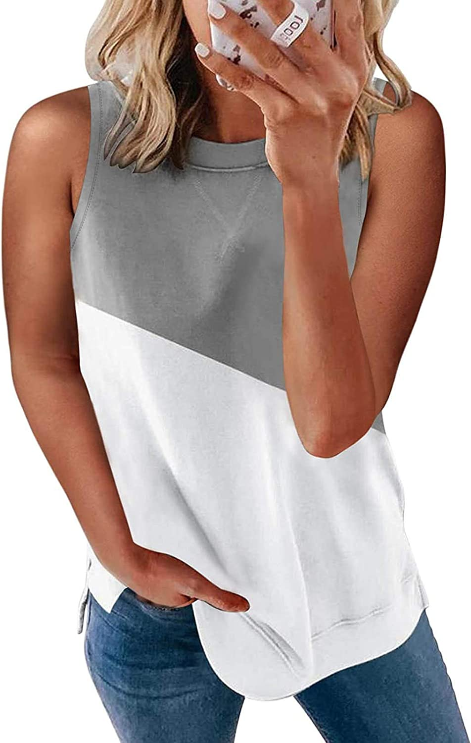 Gerichy Tank Tops for Women, Womens Casual Summer Tank Tops Loose Fit Sleeveless Workout Blouses Shirts Vest Tunics