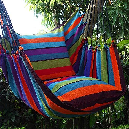 Holzenplotz Hängesessel Hängematte Hängestuhl aus Baumwolle mit 2 Kissen 4 Größen lieferb. Größe XXL 276