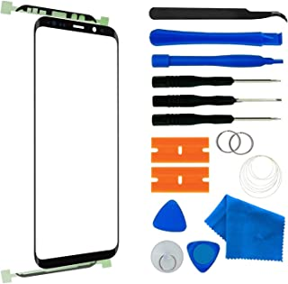Original Front Glass Repair Kit Compatible with Samsung Galaxy S9 G960 Series Display Touchscreen incl. Tool Kit(Galaxy S9 5.8 inch Black)