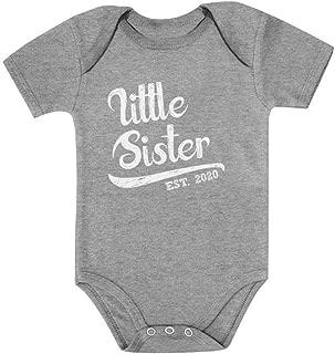 Tstars Little Sister 2020 Baby Shower Gift for Baby Girl Baby Bodysuit