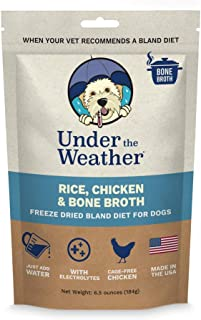 Under the Weather Pets All Natural Freeze Dried Dog Food with Bone Broth for Sick Dogs & Dogs with Sensitive Stomachs; No ...