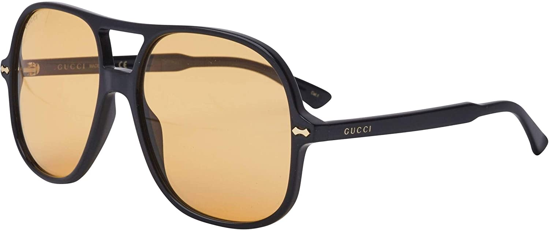 Gucci Gafas de Sol GG0706S BLACK/YELLOW 58/16/145 hombre