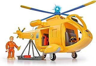 Simba – Brandweerman Sam Helikopter Wallaby Ii, Met Tom Thomas Figuur, Met Licht En Origineel Geluid, Met Draaibare Rotor ...