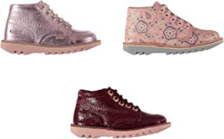 Official Brand Kickers Hi Top Leather Boots Childs Girls Shoes Boot Kids Footwear