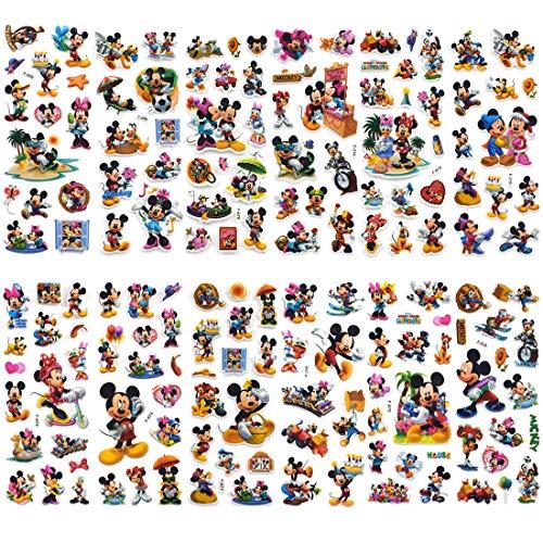 Pegatinas de Mickey - YUESEN 100 piezas de pegatinas de Mickey Mouse álbumes Graffiti Laptop Skateboard Almacenamiento de equipaje Bicicleta Niños DIY Calcomanías adhesivas