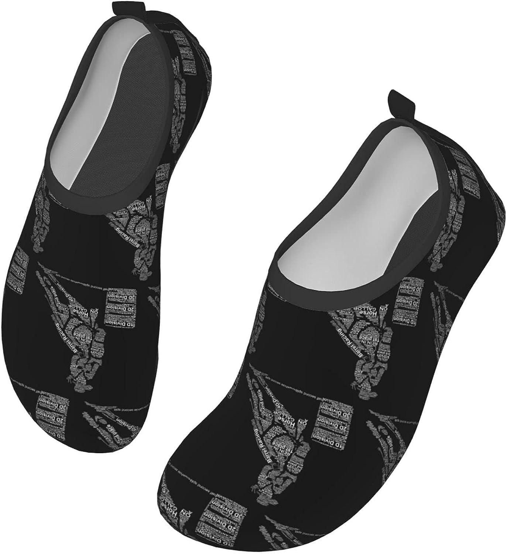 JZDACH Mens Womens Water Shoes Yoga Aqua Socks Slip-On Barefoot Sports Aqua Shoes