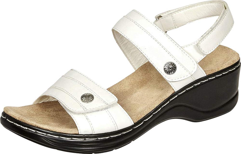 Cambridge Select Women's Open Toe Slingback Comfort Low Wedge Sandal