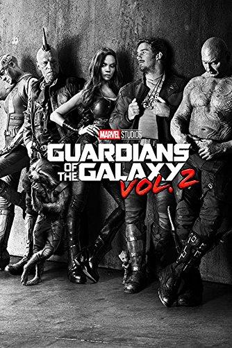 Guardians of the Galaxy 2 - Black & White Teaser - Film Poster Plakat Druck - Größe 61x91,5 cm + 1 Ü-Poster der Grösse 61x91,5cm