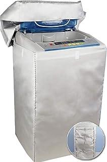 【 カバー 専門店】洗濯機 カバー 4面 屋外 防水 紫外線 3年耐久 オックスフォード マジックテープ 全自動 <日本正規1年保証> CREEKS (Sサイズ(洗濯物 約2.2Kg) :幅52×奥行52×高さ86cm, 防水・オックスフォード)