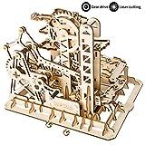 ROKR Mechanical Gears DIY Building Kit Modelo mecánico Kit de construcción con Bolas para Adolescentes y Adultos (Tower Coaster)