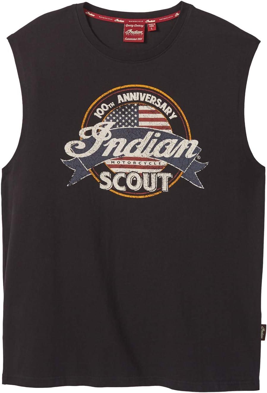 Indian Motorcycle Men's High order Sleeveless Scout Anniversary Philadelphia Mall Top Tank B