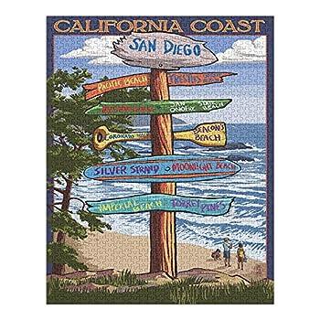 San Diego California Destinations Sign  1000 Piece Premium Puzzle Made in USA