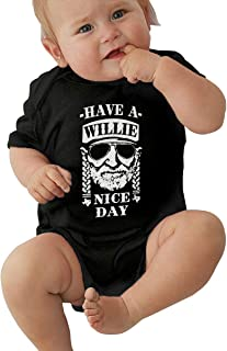 Have A Willie Nice Day Baby Boy Girl Romper Jumpsuit Bodysuit Outfits Sunsuit