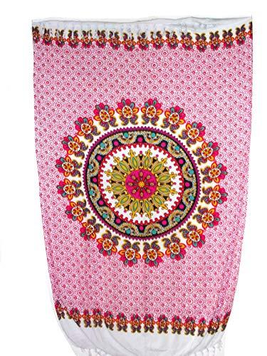 Sarong Pareo Mandala Fantasia pink-rot Wickelrock Strandtuch Tuch Wickelkleid