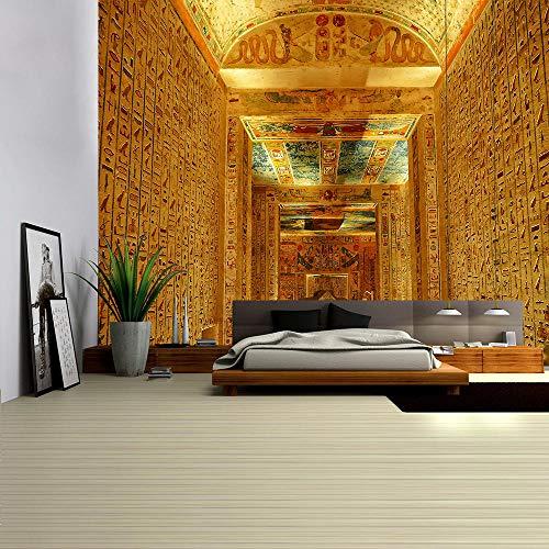 WAXB Tapiz Mural Egipcio Antiguo para Colgar En La Pared, Colchas, Estilo Hippie, Tela De Fondo Cortina, Mantel, Dormitorio, Habitación, Decoración del Hogar, Regalo, 51 X 59 Pulgadas