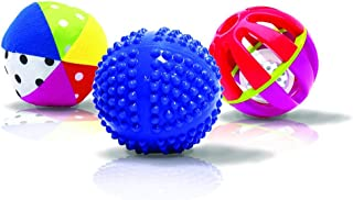 Sassy Sensory Ball Set, Multicolor, 3 Piece