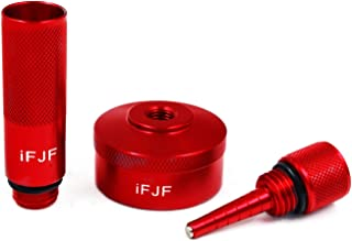 iFJF Aluminum Red Extended Run Gas Cap Adapter, Mess Oil Changes Funnel,and Generator Magnetic Tip Dipstick Oil Dip Stick for Honda Inverter Generator for EU1000i 2000i 3000i