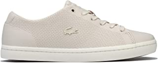 Lacoste Womens Showcourt 2.0 Leather Trainers Sneakers in Off White.