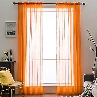 Best orange curtains sheer Reviews