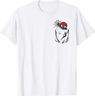 Spider-man Left Chest Pocket Graphic T-Shirt T-Shirt