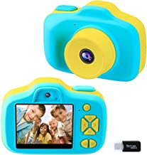 Kids Camera Gifts for Boys Girls Age 4-8, Selfie Digital Video Cameras for Birthday Christmas Holiday Travel Gift, Children 1080P HD Mini Shockproof Soft Silicone Learning Toy Camera (Blue)