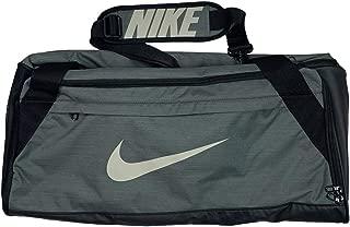 Nike Brasilia Medium Duffel Gym Bag Grey/Black Camo BA5977-344
