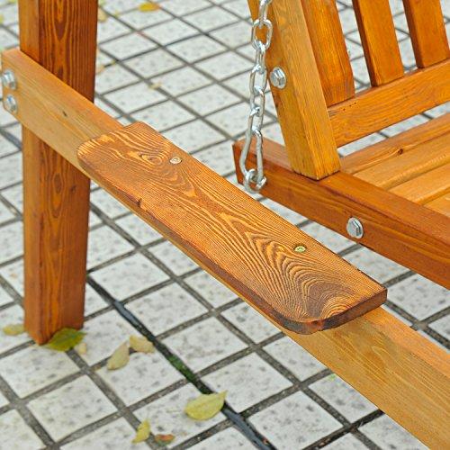 Outsunny Hollywoodschaukel Gartenschaukel Schaukelbank Schaukel 2-Sitzer Lärche - 4