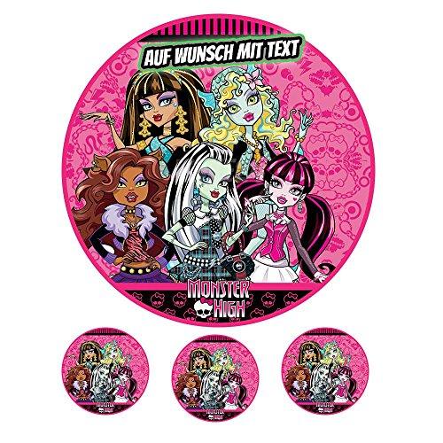 Tortenaufleger Geburtstag Tortenbild Zuckerbild Oblate Motiv: Monster High 03 (Zuckerpapier)