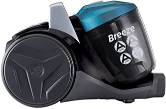 Hoover Breeze Bagless Cylinder Vacuum Cleaner, BR71BR01, Powerful, Large 2L Bin Capacity - Blue/Black