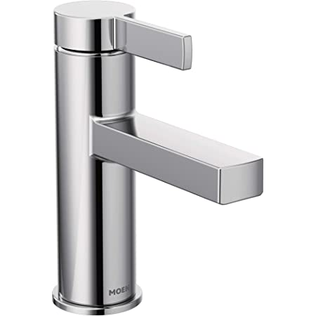 Moen 84774 Beric One-Handle Single Hole Bathroom Faucet with Drain Assembly, Chrome