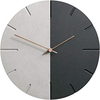 KX-QIN Black & Gray Bold Classic Quartz Wall Clock Non Ticking Silent (29cm / 12-Inch Diameter),Home/Kitchen/Office/School Clock,Easy to Read Gift Gift
