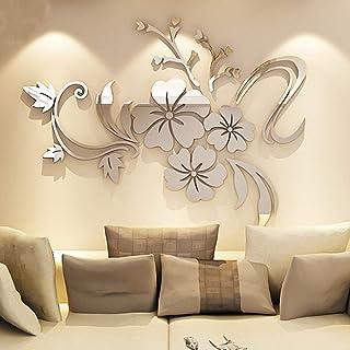 XX GUO etiqueta de la pared fondo de pantalla pegatinas de pared ¡° espejo de flores ¡± pared de la decoración de la pared