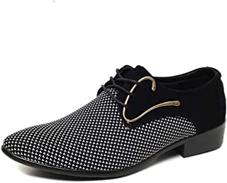 Men's Fashion Dress Shoes Oxford Business Shoes Wedding Shoes Pointed Flat Shoes