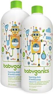 Babyganics Foaming Dish and Bottle Soap Refill, Fragrance Free, 32 Fl Oz (Pack of 2)
