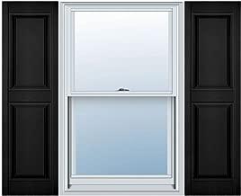 Mid America 00021439002 Standard Size Williamsburg Double Panel Shutter (Per Pair), 14 3/4
