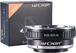 [正規代理店]K&F キャノン EOS EF(EF-S)レンズ-CANON EOS M マウントアダプター レンズクロス付 ef-eosm (KFEOSM)