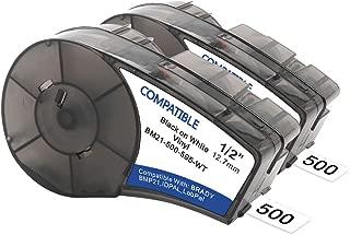 Samshion (M21-500-595-WT) Compatible Brady bmp21-plus Labels White Vinyl Label Tape for BMP21-PLUS,ID PAL, BMP21-LAB -0.75