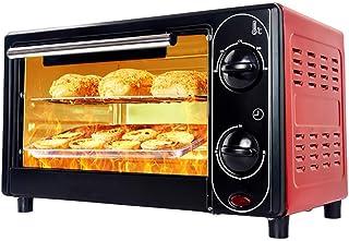Mini horno eléctrico para hornear, pequeño horno eléctrico y parrilla, mini horno con hornillos, horno eléctrico doméstico de 12 litros, temporización de 30 minutos, control de temperatura libre, hor