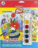 6colores de acuarela con 2malvorlagen + pincel, agua colores Set