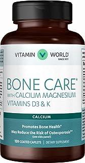 Vitamin World Bone Care* with Calcium Magnesium Vitamins D3 & K 120 caplets