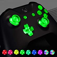 eXtremeRate Multi-Colors Luminated D-pad Thumbsticks Start Back ABXY Action Buttons (DTF) LED Kit for Xbox One Standard, Xbox One S X Controller 7 Colors 9 Modes Button Control