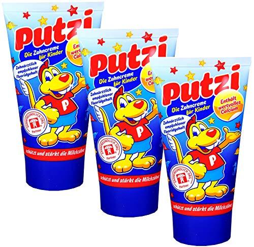 3er Pack Putzi Die Zahncreme für Kinder (3 x 50 ml) Kinderzahncreme, Kinderzahnpasta, Zahnpflege, Zahnpaste