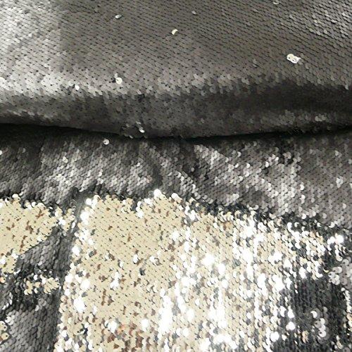 Hemmers Lentejuelas de plástico Negro Brillante Mate, 1,25 m de Ancho