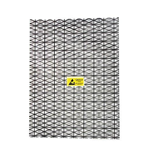 30 Stück Antistatikbeutel ESD-Abschirmung mit geöffneter Oberseite für Motherboard-Grafikkarte LCD-Bildschirm mit Etiketten, 30 x 40 cm
