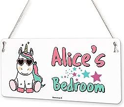 Cool Unicorn Personalised Childs Bedroom Door Sign Name Plaque